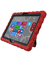 Gumdrop Cases Hideaway Rugged Case with Stand for Dell Venue 11 Tablet (Red-Black)
