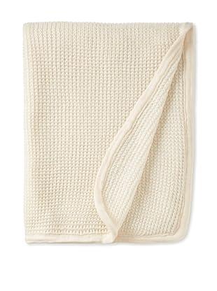 pür cashmere Thermal Knit Throw, Crème, 50