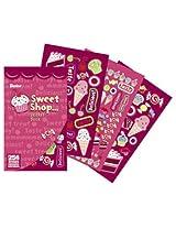 WeGlow International Sweet Shop Sticker Books (4 Books)