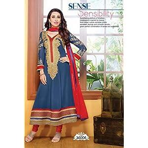 Khantil Collection Of Karishma Kapoor In Designer Anarkali Suit