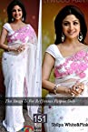 bollywood replica Shilpa Shetty Looks Gorgeous in Classic Pink & White Saree At Nach Baliye