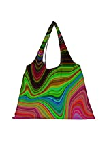 Snoogg Lava Movement 2396 Womens Jhola Shape Tote Bag