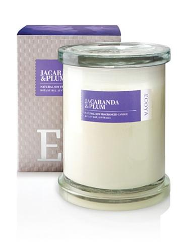 Ecoya Botanicals Metro Jar Scented Candle in Jacaranda and Plum Fragrance