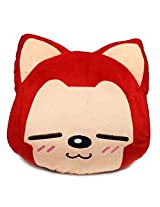 Ali The Fox, Cushion, Plush Toy, Pillow, Large Face (Line Eyes, New Version)