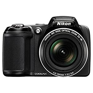 Nikon Coolpix L330 20.2 MP Point and Shoot Camera (Black) with 26x Optical Zoom