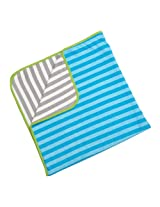 Britto Bebe From Enesco Baby Blanket, Blue (Discontinued by Manufacturer)
