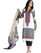 Pakistani Pure Lawn Embroidered Unstitched Straight Suit