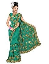 A.V.Fashion Embroidered Saree (1102_Rama)