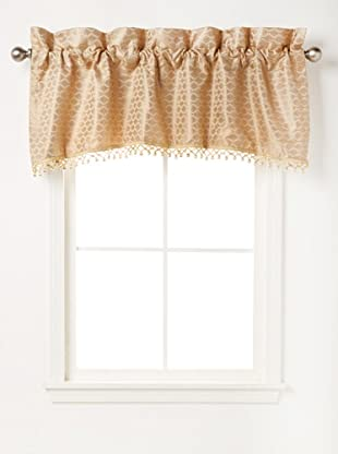 Waterford Linens Anya Tailored Valance, Gold, 55