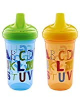 Munchkin Alphabet Sippy Cup, 9 Ounce, 2 Count (Multi Color)