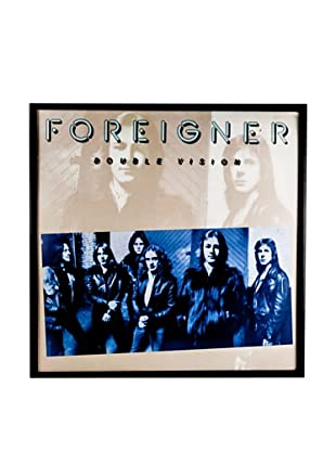 Foreigner: Double Vision Blue Framed Album Cover