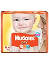 Huggies New Dry Diapers (Medium) - 62 Count