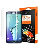Spigen Steinheil Curved PLASTIC (PET) FILM Screen Guard Protector for Galaxy S6 Edge+ / Galaxy S6 Edge Plus (Front 1+ Back 1 Film) SGP11694