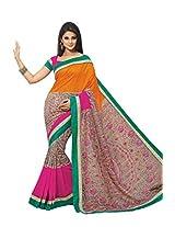 Multi Color Art Bhagalpur Silk Saree with Blouse 11338