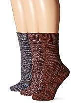 Muk Luks Women's Marl Crew Socks 3-Pack
