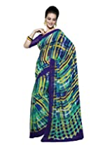 Suvastram Women Georgette Printed Multi-Colored Saree
