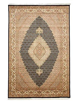 Darya Rugs Traditional Oriental Rug, Navy/Sand, 6' 8