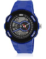 Fs205-Bl01 Blue/Black Analog & Digital Watch
