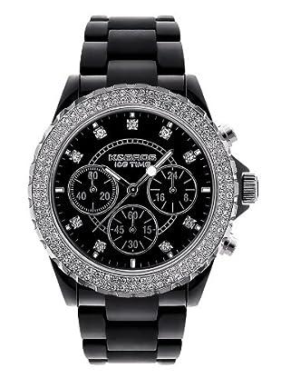 K&BROS 9553-4 / Reloj de Señora  con correa de plástico negro