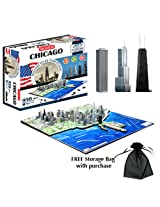 4D Chicago Skyline Time Puzzle w/Free Storage Bag