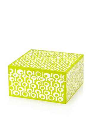 Wolf Designs 1970's Collection Lacquer Jewelry Box, Small (Groovy Green)