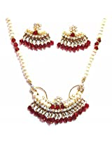Shingar ksvk jewels Ruby Emerald Jadau Necklace Set For Women (9814-jadau-ps)