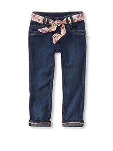 KANZ Girl's Belted Jeans (Denim)