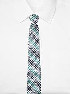 Original Penguin Men's Firecrest Plaid Tie (Aqua)