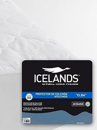 Icelands Protector Acolchado Elba (Blanco)