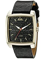 Quiksilver Analog Black Dial Men's Watch - QS-1008-BKGP