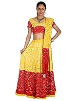 Rajrang Womens Cotton Lehenga Cholis (Lhg00453 _Yellow _Long)