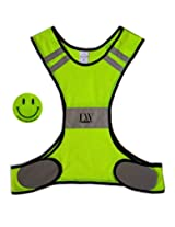 LW Reflective Biking Vest Running Cycling Walking Yellow Safety (S/M)