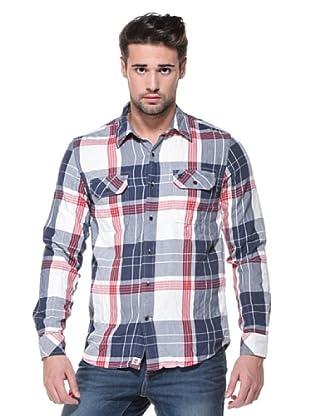 Timberland Camisa Thompson (Crema/Azul)