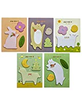 Piyo mini it Animal Shape cute sticky notes set of 5