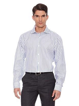 Hackett Camisa Rayas (Azul / Blanco / Marrón)