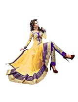 King Sales New Heavy Stylish Yellow Bridal Long Anarkali Suit