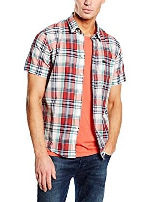 Lee T-Shirt Button Down Ss Lava Red