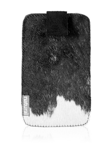 Natural iPhone Cowhide Case (Black & White)