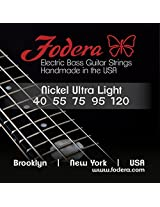 Fodera Electric Bass Guitar Strings, Roundwound 5-String Nickel - 40120 UL