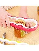 4 in 1 Creative multifunction Gourd-shaped Can Opener Screw Cap Jar Bottle Wrench Kitchen Tool-Orange