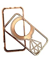 GLOBALESERVE BACK CASE COVER POUCH FOR APPLE IPHONE 5 5S 5G DESIGNER STONE BUMPER COVER (COPPER)