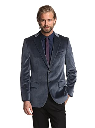 Joseph Abboud Men's 2-Button Velvet Sportcoat (Dark Blue)