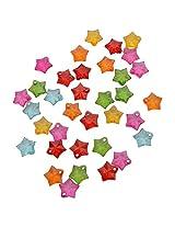 Foppish Mart Multi-coloured Star Translucent Acrylic Beads