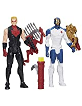 Avengers Titan Heroes Iron Man and Hawkeye Deluxe Electronic Action Figures Set of 2 Entertainment E