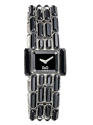 D&G DW0472 - Reloj de Señora movimiento de cuarzo con brazalete metálico negro