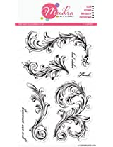 """Mudra Stamps - Vintagy Flourish - 6""""X4"""""""