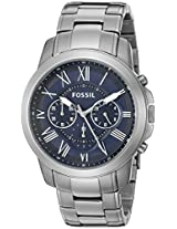 Fossil Grant Chronograph Blue Dial Men's Watch - FS4831