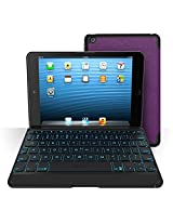ZAGG Folio Case with Backlit Bluetooth Keyboard for Apple iPad Mini Purple-Black (1st Generation Only) Backlit Keyboard and Case