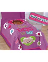 Disneys DocMcStuffins Doc and Friends Coral Fleece Blanket