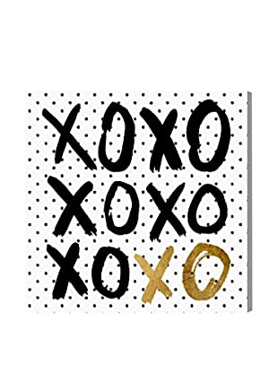 Oliver Gal 'Hugs and KK In Black Polka Dot' Canvas Art